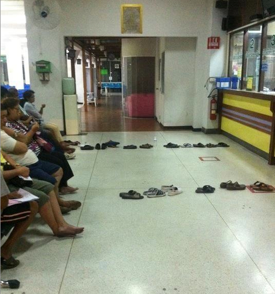 Waiting Shoes Somewhere in Thailand