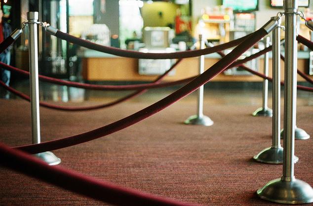 Red velvet ropes