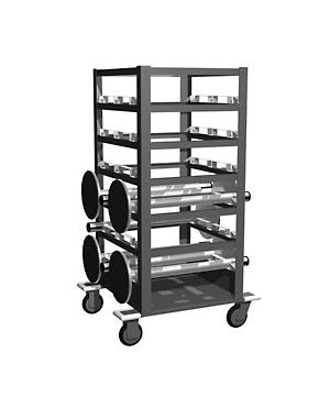 tensator stanchion storage cart