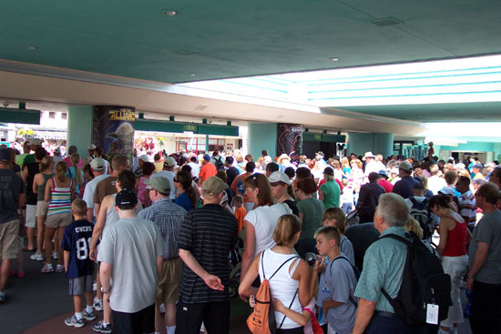 Disney World Waiting Line indoors