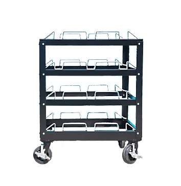 visiontron stanchion storage cart 12 posts