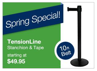 visiontron tensionline retractable belt barrier