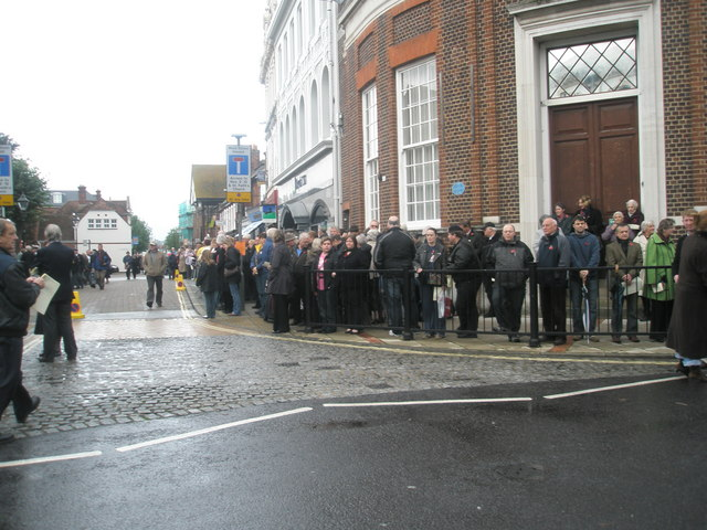 People_waiting_outside_St_Faith's_for_the_2009_Remembrance_Sunday_Service_(1)_-_geograph.org.uk_-_1572753