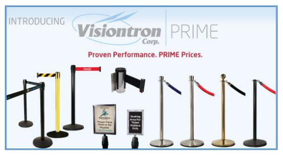 Visiontron PRIME Crowd Control Line