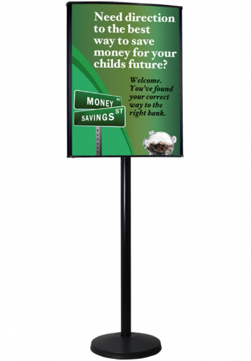 Versa-Stand Post Sign Black Bank