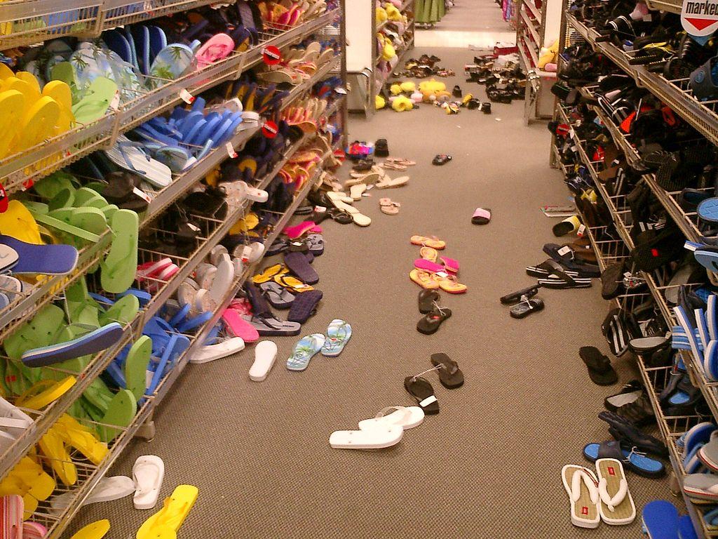 Messy Shoe Aisle
