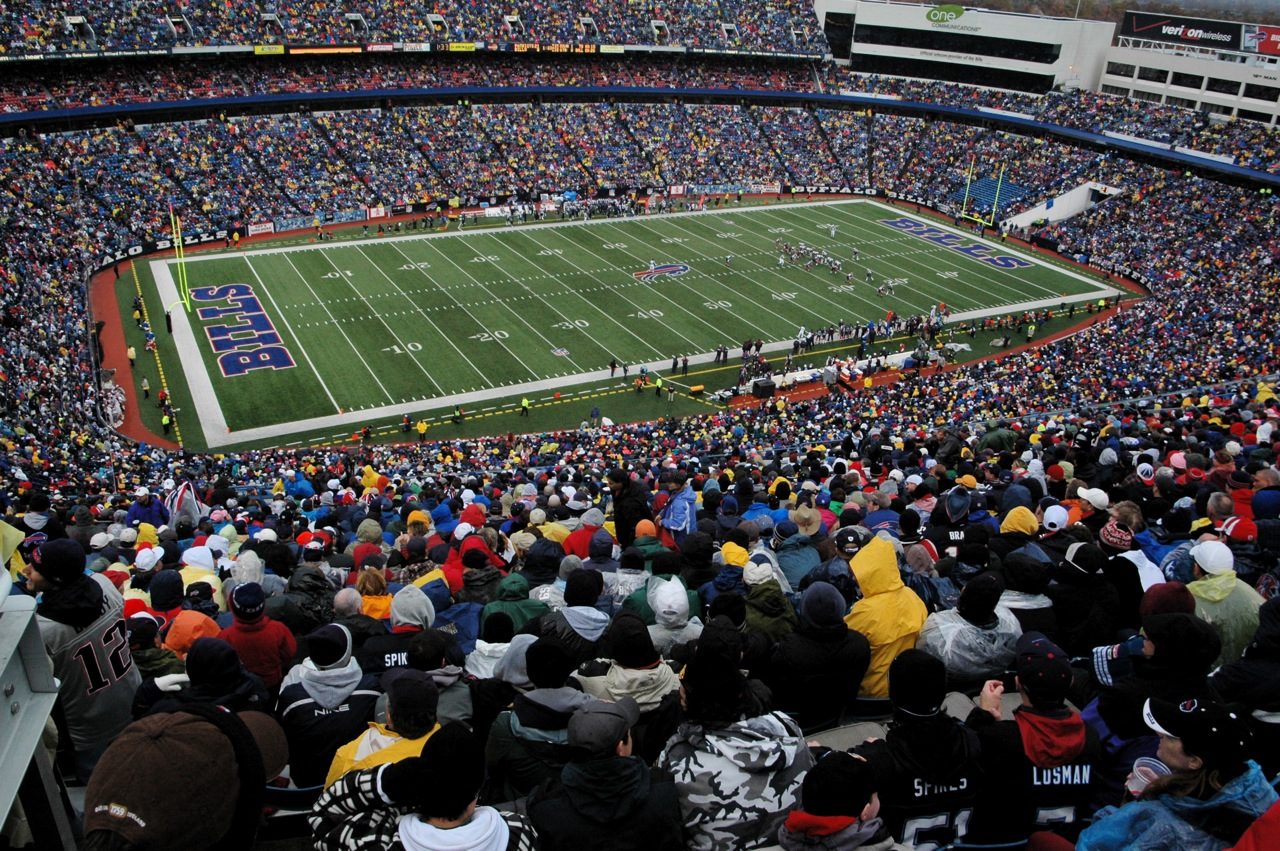 Ralph Wilson Stadium Packed with People