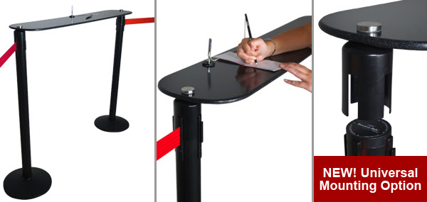Visiontron Post Mount Writing Table