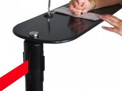 Customer using post mount writing table